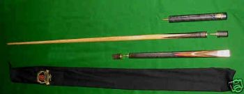RILEY BURWAT GOLD NEW RBG-1 ASH SNOOKER POOL BILLIARD TABLE CUE + EXTENSION+CASE